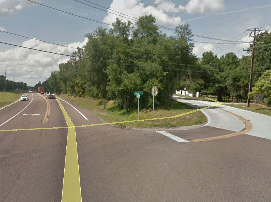 Corner of Gay & Airport Road