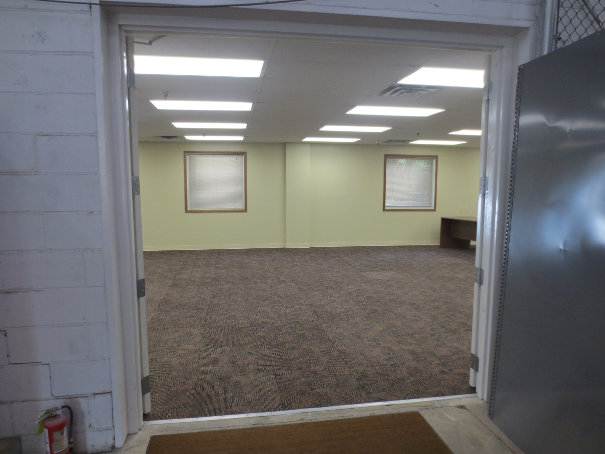 Suite 180 Large double doors from the warehouse into the space