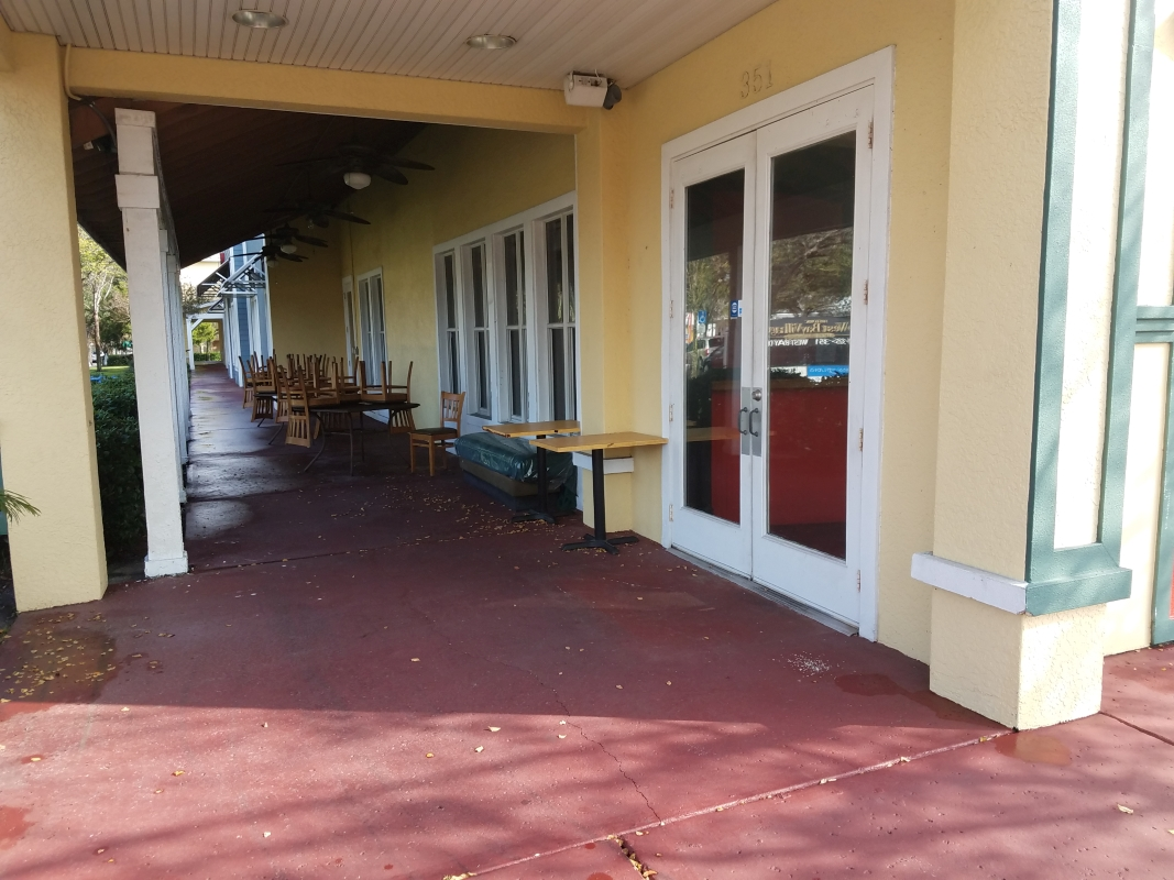 Main Entrance/Outdoor seating