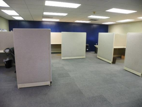 Office Area with Moveable Cubicles