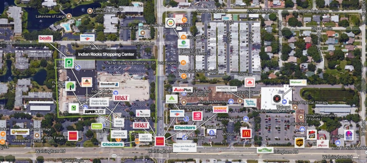Aerial View of Retailers
