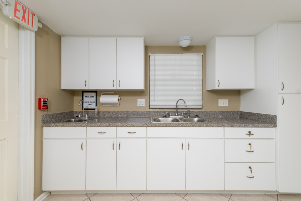 Counter tops with Employee Washing Station