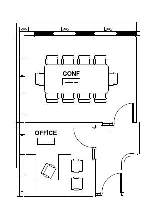Suite 202 Floor Plan (second floor)