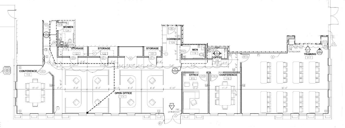 Suite 101 Floor Plan (first floor)